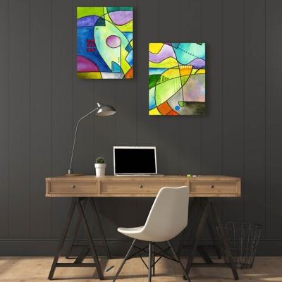 Outline Couple 11x14 Metal Wall Art Print Set, Multi, large
