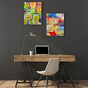 Sunny Flower Couple 11x14 Acrylic Wall Art Print Set, Multi, rollover