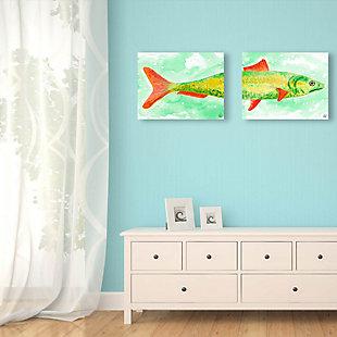 Sardine Couple 11x14 Acrylic Wall Art Print Set, Multi, rollover
