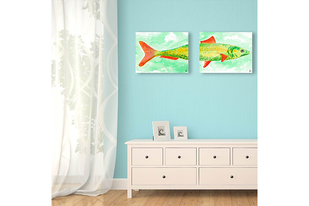 Sardine Couple 20x30 Acrylic Wall Art Print Set, Multi, large