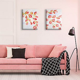 Pink Flowering Branches 11x14 Canvas Wall Art Print Set, Multi, rollover