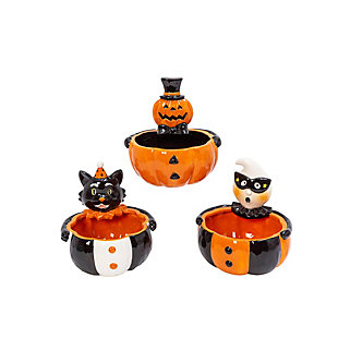 Dolomite Halloween Candy Bowls (Set of 3), , rollover