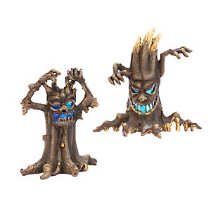 Battery Operated Lighted Spooky Haunted Tree Figurines (set Of 2), , large