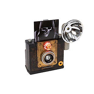 Lighted Animated Halloween Camera with Sound and Motion Sensor, , large