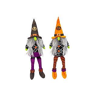 Plush Halloween Gnome Shelf Sitter (set Of 2), , rollover