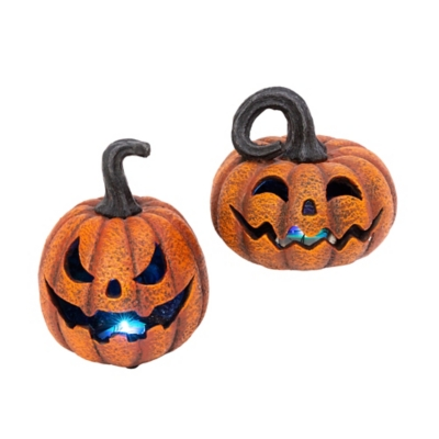Delightfully Spooky Lighted Jack-o-lanterns (set Of 2), , large