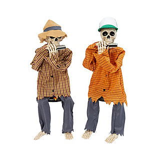 """38"""" Animated with Sound Skeletons Playing Harmonicas (Set of 2), , large"""