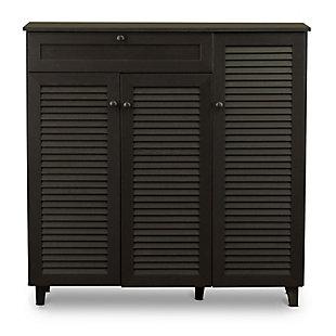 Baxton Studio Pocillo Wood Shoe Storage Cabinet, , large