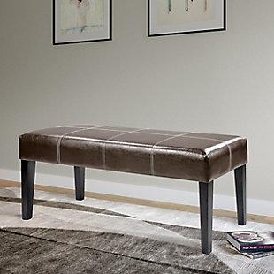 CorLiving Antonio Leather Bench, , rollover
