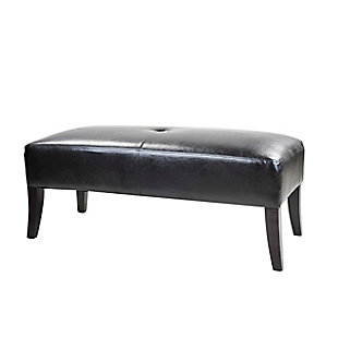 CorLiving Antonio Bonded Leather Bench, , large