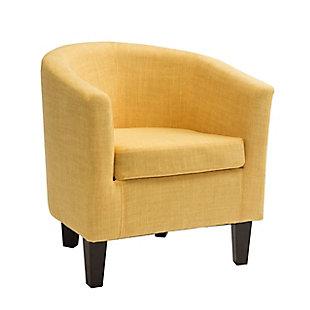 CorLiving Antonio Tub Chair, Yellow, large