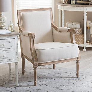 Baxton Studio Chavanon French Accent Chair, , rollover