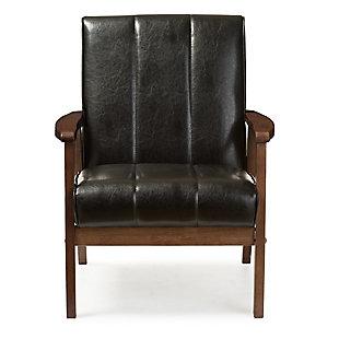 Baxton Studio Nikko Lounge Chair, Black, large
