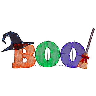 """23"""" """"BOO"""" Sign with LED Lights, , large"""