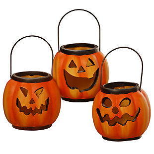 National Tree Company Halloween Lanterns (Set of 3), , rollover