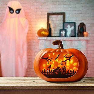 3D Orange LED Pumpkin, , rollover