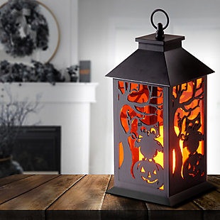 """12"""" LED Owl and Pumpkin Lantern, , rollover"""