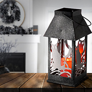 """11.6"""" Owl Lantern with LED Lights, , rollover"""