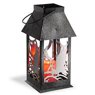 """11.6"""" Owl Lantern with LED Lights, , large"""