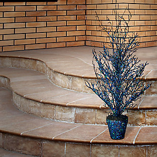 """26"""" Black Tree with Blue Glitter, , rollover"""
