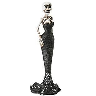 National Tree Company Polyresin Skeleton Bride Figurine, , large