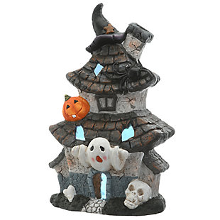 """18"""" Multilevel Haunted House with LED Light, Battery Operated, , large"""