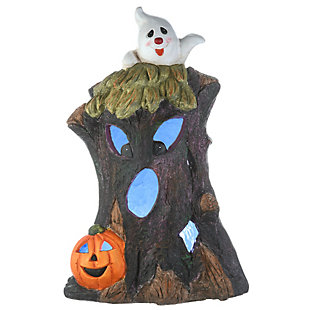"""18"""" Haunted Tree Trunk with LED Light, Battery Operated, , large"""