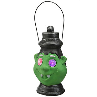 """12"""" Green Ghoul Lantern with LED Lights, Battery Operated, , large"""