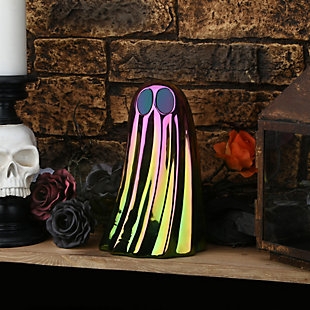 """10"""" LED Lit Iridescent Ghost Decor, Battery Operated, , rollover"""