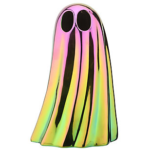"""10"""" LED Lit Iridescent Ghost Decor, Battery Operated, , large"""
