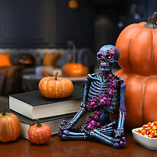 """10"""" LED Lit Purple Galaxy Skeleton, Battery Operated, , rollover"""