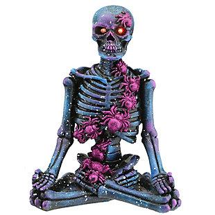 "10"" LED Lit Purple Galaxy Skeleton, Battery Operated, , large"