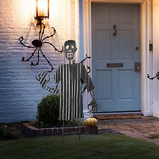 "48"" Creeping Zombie Metal Garden Stake, , rollover"
