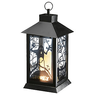 """16"""" Black Halloween Ghost Lantern with Battery Operation, , large"""