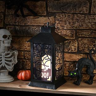 National Tree Company Black Halloween Bats Lantern with Battery Operation, , rollover