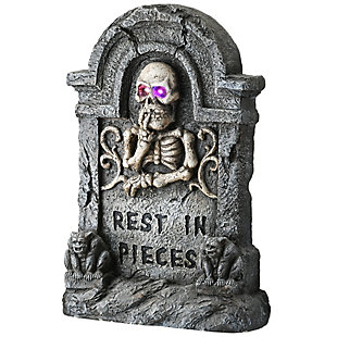 """23"""" Rest in Pieces Gravestone with LED Lights, Battery Operated, , large"""