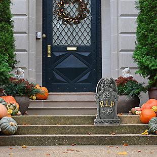 "24"" Polyresin Halloween Gargoyle and Gravestone, , rollover"