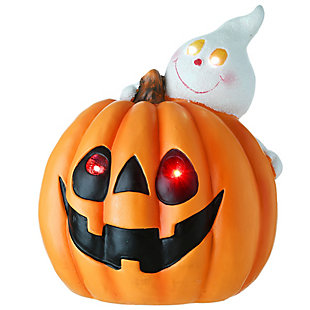 National Tree Company Happy Pumpkin and Ghost with LED Light , Battery Operated, , large