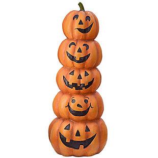 """51"""" Polyresin Stacked Happy Jack-O-Lanterns, , large"""