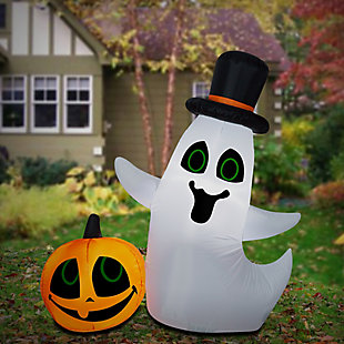National Tree Company 4 ft. Ghost and Pumpkin, , rollover