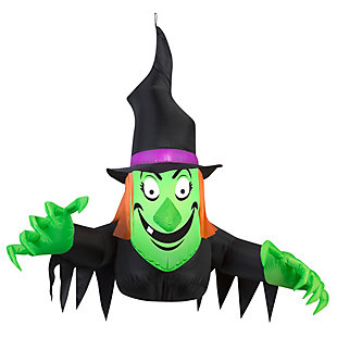 Inflatable 3.5 ft. Window Creeper Friendly Witch, , large