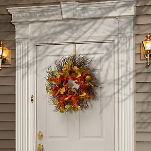"26"" Maple Leaves Harvest Wreath, , rollover"