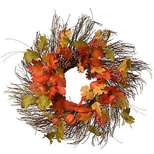 """26"""" Maple Leaves Harvest Wreath, , large"""