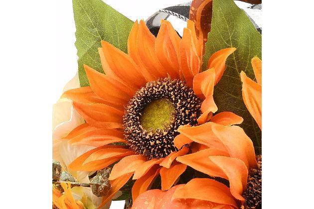 "20"" Harvest Sunflower Cornucopia with Sunflowers, , large"