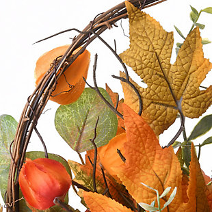 """15"""" Harvest Wall Basket Decor with Bow, , large"""