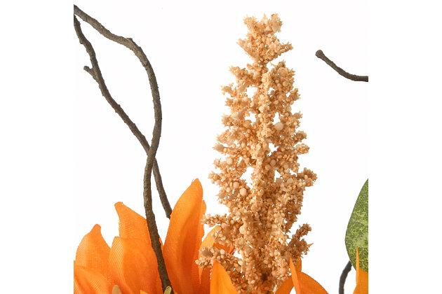 """18"""" Harvest Flower Filled Pumpkin Decor, , large"""
