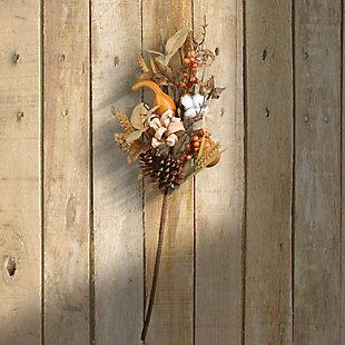 "28"" Autumn Pine Nut Spray with Pumpkin Gourds, Set of Two, , rollover"