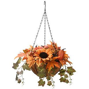 18'' Harvest Gourd Hanging Basket, , large