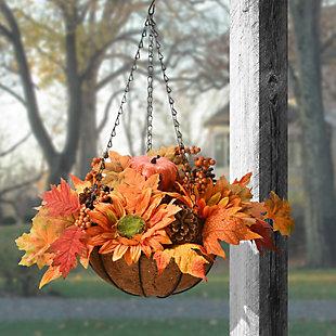 18'' Harvest Sunflower Hanging Basket, , rollover
