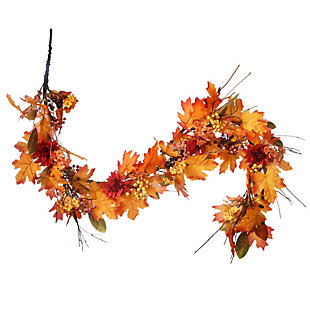 """60"""" Harvest Maple Leaf Garland with Berries, , large"""